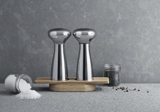 ALFREDO SALT AND PEPPER MILLS IN MIRROR-FINISH STAINLESS STEEL