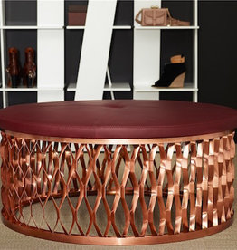 KARL ANDERSSON & SÖNER (DISPLAY) STEELO OTTOMAN EXTRUDED METAL BASE IN COPPER