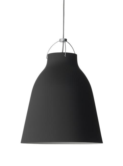CARAVAGGIO P2 STEEL PENDANT LIGHT, BLACK MATT LACQUER