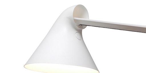 NJP LED WALL LAMP SHORT ARM IN WHITE