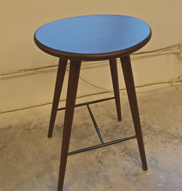 (DISPLAY) ETHICAL HIGH STOOL, DARK STAINED BEECH HARDWOOD