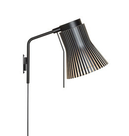 4630 PETITE WALL LAMP IN BLACK LAMINATED BIRCH