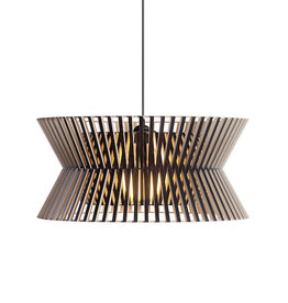 KONTRO 6000 PENDANT LAMP IN BLACK LAMINATED BIRCH