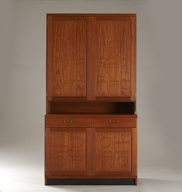 MANKS ANTIQUES YNGVE EKSTROM & STIG LINDBERG DRINKS CABINET IN TEAK