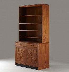 MANKS ANTIQUES YNGVE EKSTROM & STIG LINDBERG BOOKCASE IN TEAK