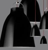 CARAVAGGIO P0 STEEL PENDANT LIGHT IN BLACK