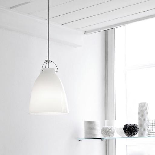 CARAVAGGIO P0 STEEL PENDANT LIGHT IN WHITE