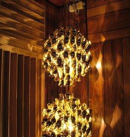 VERPAN (DISPLAY) SPIRAL SP2 HANGING LAMP W/2 CLUSTERS OF GOLD SPIRALS (DISPLAY ITEM)