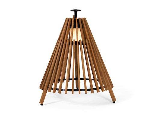 (DISPLAY) TIPI SMALL LED FLOOR LAMP IN NATURAL ASH WOOD