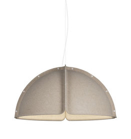(DISPLAY) HOOD LED PENDANT LAMP IN SAND COLOUR