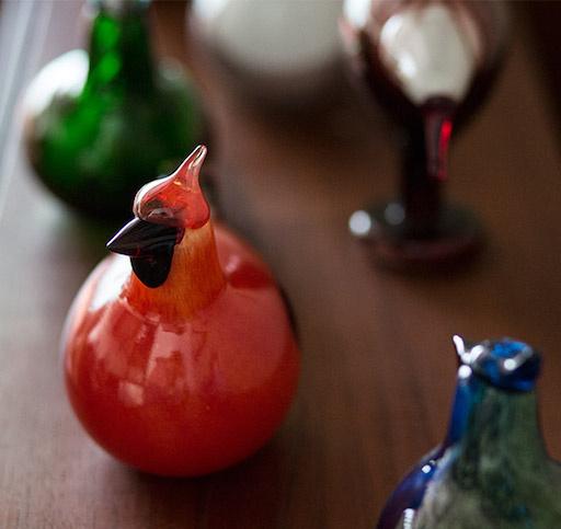 IITTALA BIRDS BY TOIKKA, RED CARDINAL
