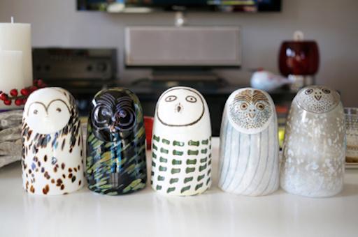 IITTALA BIRDS BY TOIKKA, SOOTY OWL
