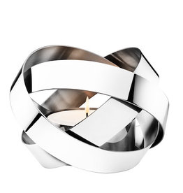 GEORG JENSEN RIBBONS LARGE LANTERN IN MIRROR FINISHED STAINLESS STEEL, ∅20.7 | H15 CM
