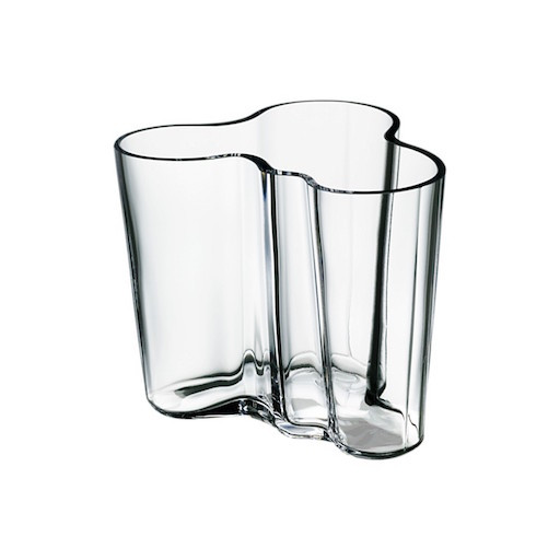 AALTO VASE, CLEAR, 95 MM