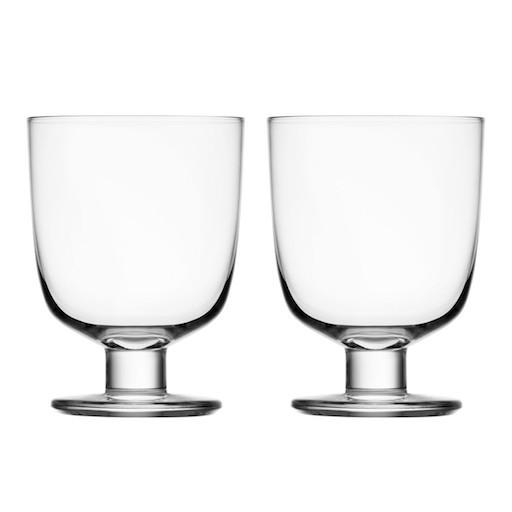 IITTALA LEMPI GLASS, CLEAR, 34 CL, 2-PIECE SET
