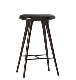 ETHICAL MEDIUM HIGH STOOL, DARK STAINED HARDWOOD