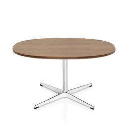 (DISPLAY) A203 SUPERCIRCULAR COFFEE TABLE, WALNUT TOP