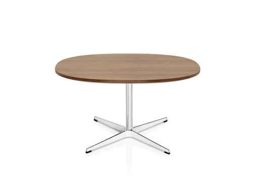 A203 SUPERCIRCULAR COFFEE TABLE, WALNUT TOP