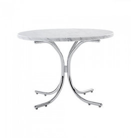 MODULAR TABLE, CARRERA MARBLE TOP IN WHITE COLOUR