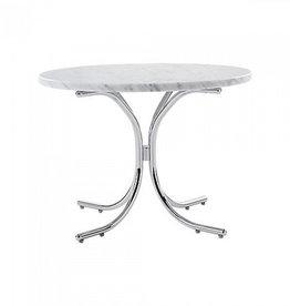 VERPAN MODULAR TABLE, CARRERA MARBLE TOP IN WHITE COLOUR
