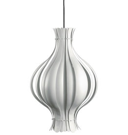 VERPAN ONION-SHAPED PENDANT LAMP IN METAL WITH WHITE SURFACE