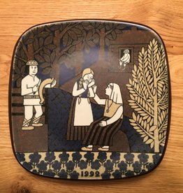 MANKS ANTIQUES ANNIVERSARY WALL HANGING PLATE DECORATED YEAR 1992