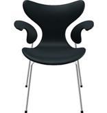 FRITZ HANSEN (DISPLAY) 3208  LILY ARMCHAIR IN BASIC BLACK LEATHER