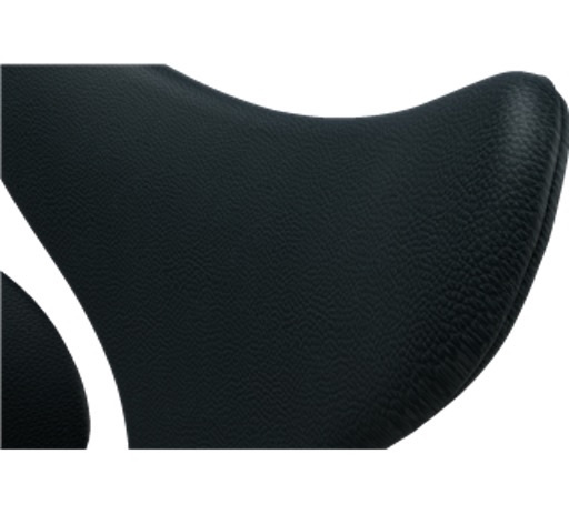 (DISPLAY) 3208  LILY ARMCHAIR IN BASIC BLACK LEATHER