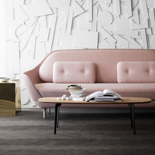 JH3 FAVN 3-SEATER SOFA IN LIGHT PINK