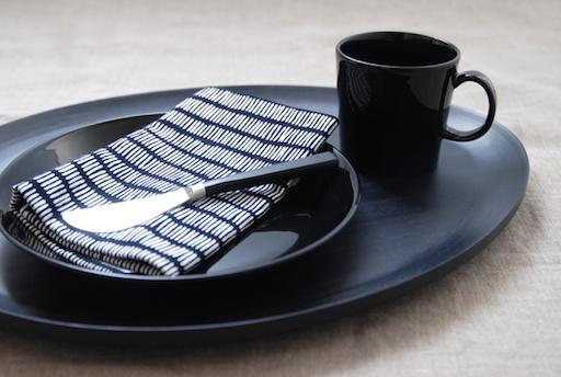 TEEMA BLACK PLATE, FLAT, 26 CM