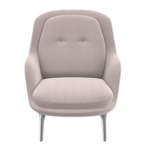 (DISPLAY) JH4 FRI EASY CHAIR IN LIGHT PINK