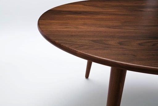 CH008 THREE-LEGGED COFFEE TABLE IN SOLID WALNUT