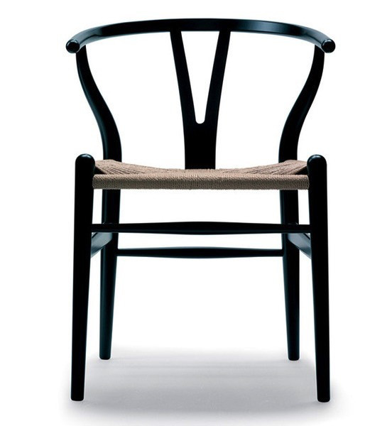 CARL HANSEN U0026 SON CH24 WISHBONE CHAIR IN BLACK LACQUER BEECH ...