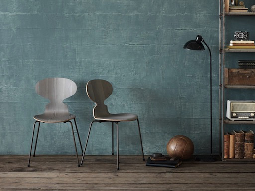 FRITZ HANSEN 3101 LIMITED EDITION ANT CHAIR, DYED GREY OAK SHELL