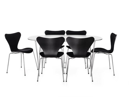 (DISPLAY) 3107 CHAIR 3107 CHAIR IN BLACK LEATHER