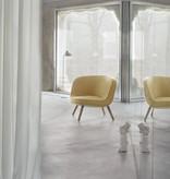FRITZ HANSEN VIA57™ LOUNGE CHAIRIN YELLOW/WHITE FABRIC