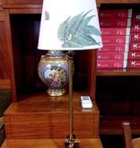 HJERTÉN & HJERTÉN 1065-20 + 1000 TABLE LAMP, COHIBA/STENSÖTA GRÖN/VIT LAMP SHADE