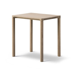 6705 PILOTI SIDE TABLE, OAK WOOD