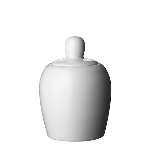 BULKY COOKIE JAR IN WHITE