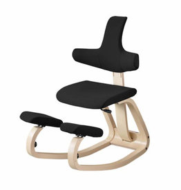 VARIER THATSIT BALANS KNEELING CHAIR WITH HEIGHT ADJUSTABLE BACKREST IN FABRIC