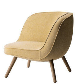 VIA57™ LOUNGE CHAIRIN YELLOW/WHITE FABRIC (DISPLAY)