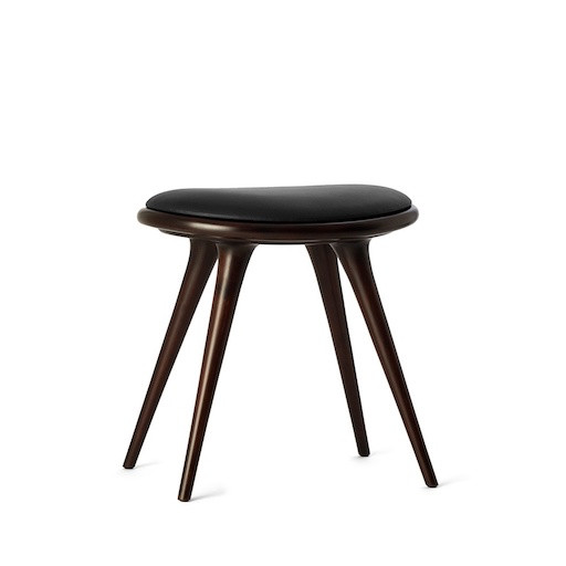 ETHICAL LOW STOOL IN DARK STAINED BEECHWOOD