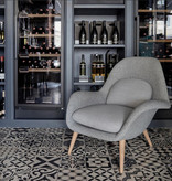FREDERICIA 1770 SWOON LOUNGE CHAIR IN FABRIC