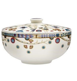 TAIKA CHINESE SOUP BOWL WITH LID, WHITE, 0.8 L