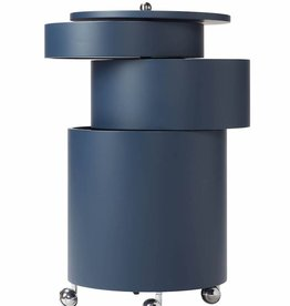BARBOY CYLINDRICAL BAR CABINET IN BLUE (DISPLAY)
