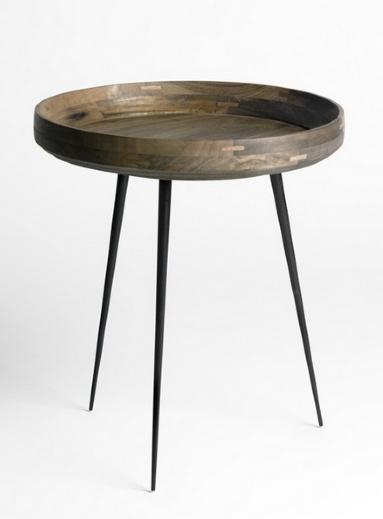 MANGO BOWL SMALL TABLE, SIRKA GREY FINISHED MANGO WOOD