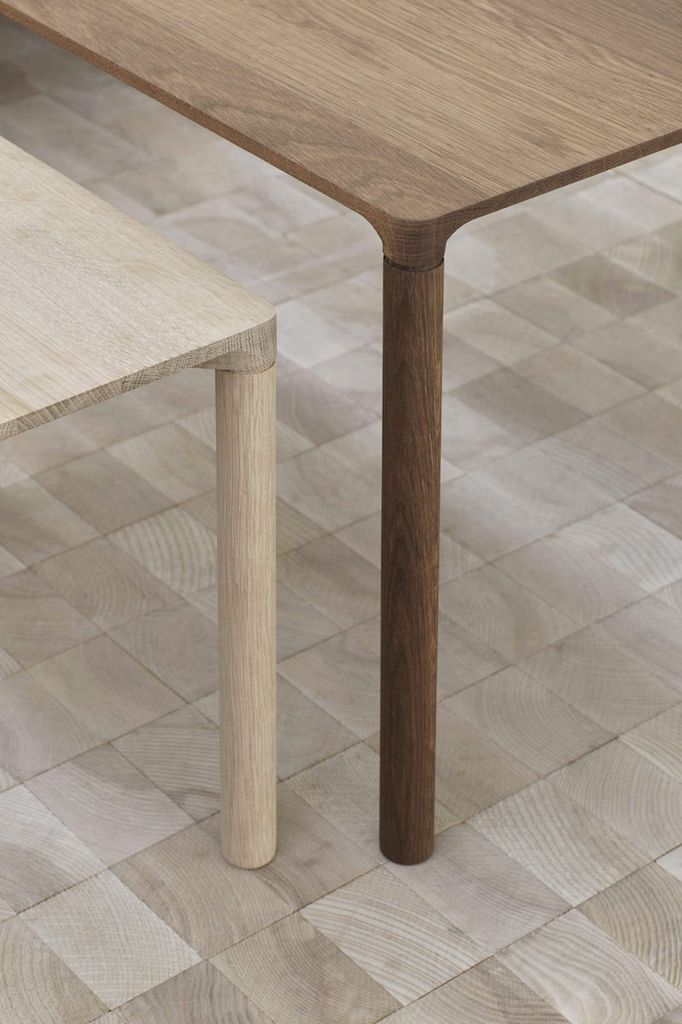 FREDERICIA 6725 PILOTI SIDE TABLE IN SMOKED OAK WOOD
