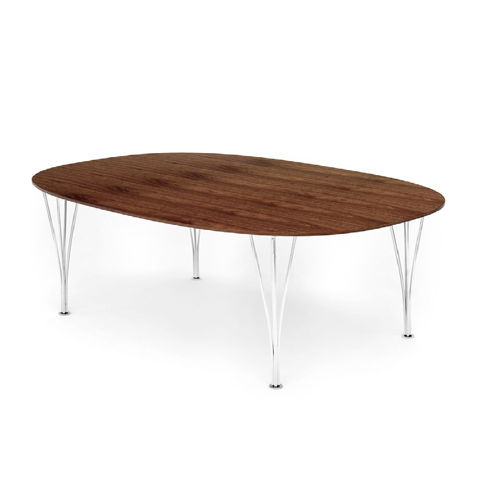 (DISPLAY) B614 SUPER-ELLIPTICAL TABLE IN WALNUT