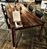 DK3 JEPPE UTZON TABLE #1 IN WILD WALNUT SANDWICH