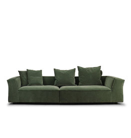 (DISPLAY) GOTHAM SOFA, UPHOLSTERED IN #09 LOUIS FABRIC